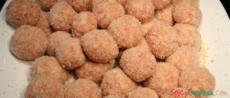 Deep-Fried Hungarian Meatballs: fasírt, fasírozott - Spicy Goulash