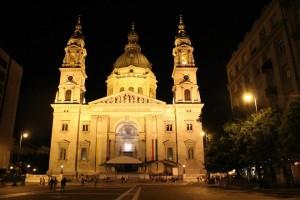 St. Stephen's Basilica Budapest by night