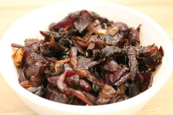 Caramelized red-onions