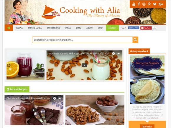 cookingwithalia.com cooking blog screenshot