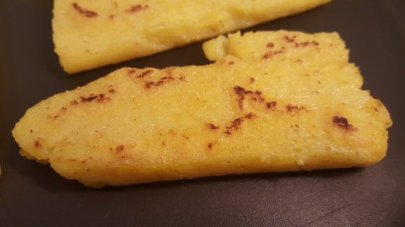 Fried polenta slices
