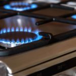 Gas burners on gas range