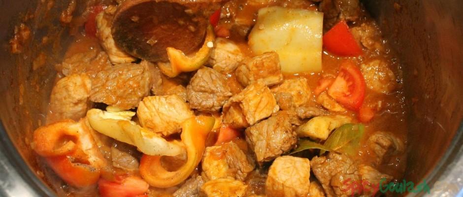 Add tomato, pepper, seasoning