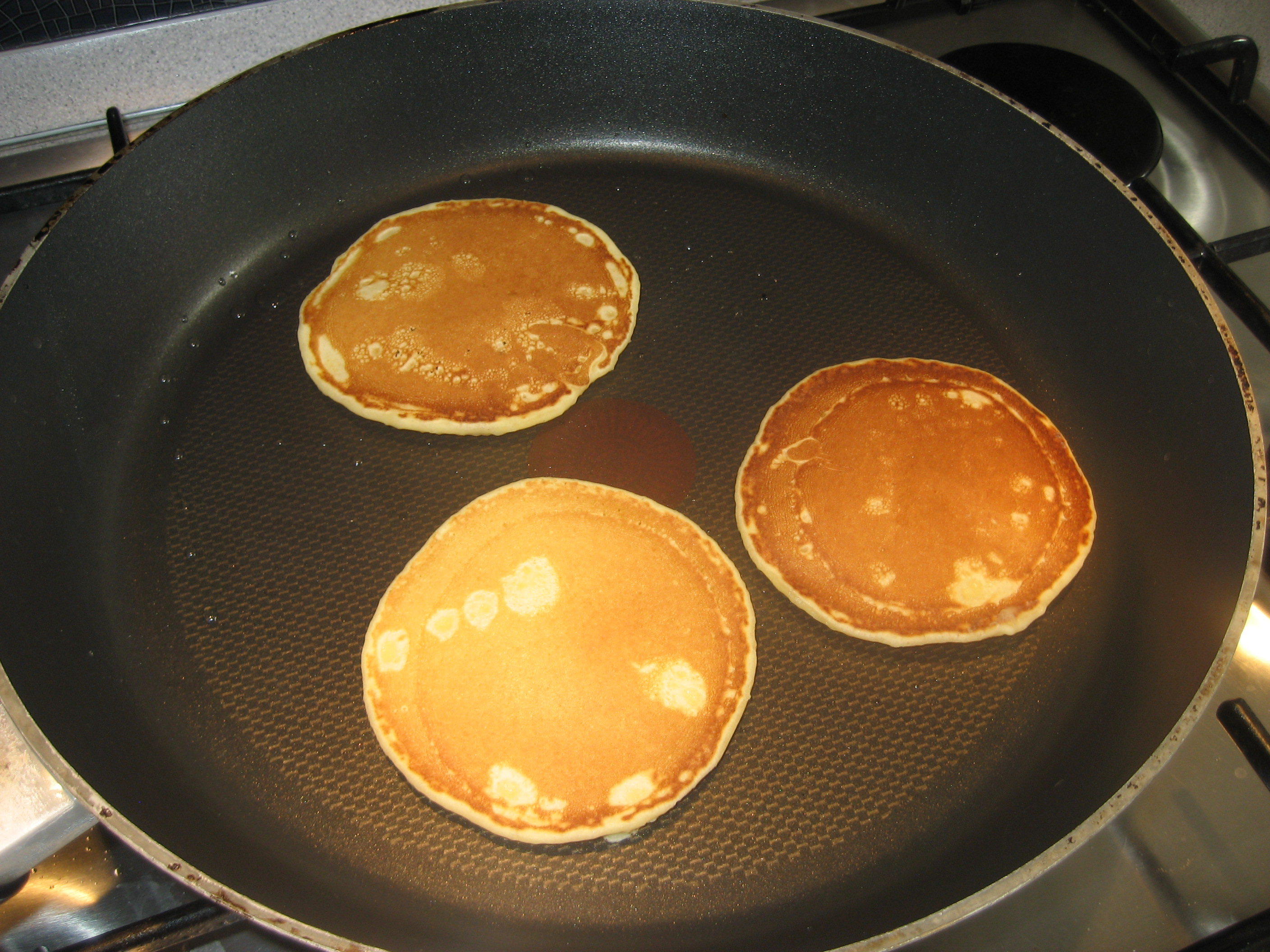 how to cook pancakes in a pan