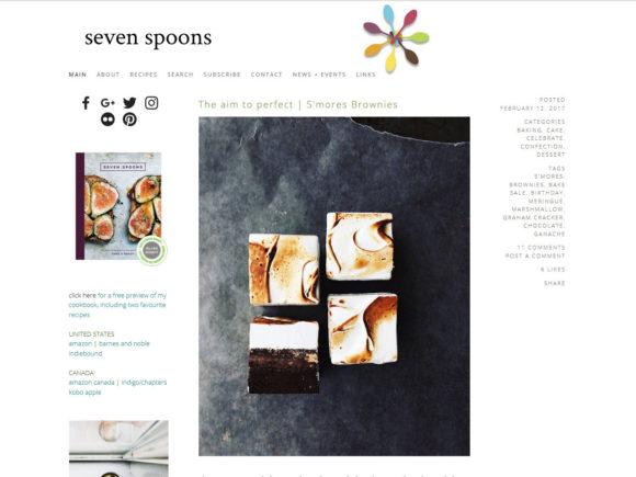 sevenspoons.net food blog screenshot