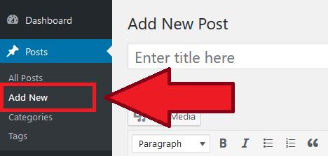 WordPress Add New Post