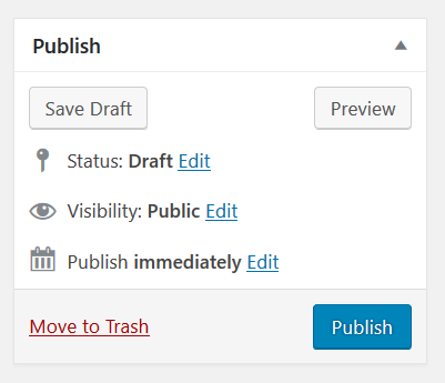 WordPress Publish Post